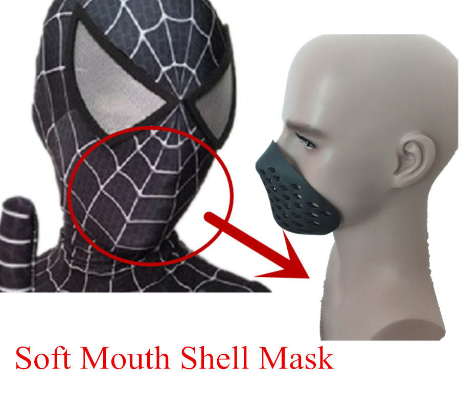 2019 Spider-man Faceshell Face Shell Silicone Mask Cover Mouth Mask Props