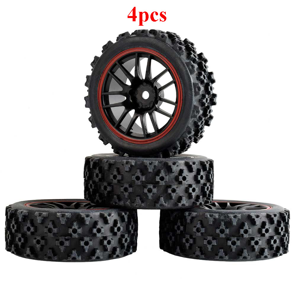 4Pcs Tire 70mm Skin 1/10 Flat Racing Rally Plum Pattern <font><b>Wheel</b></font> for <font><b>RC</b></font> Model Cars HSP 1/16 Spare Parts image