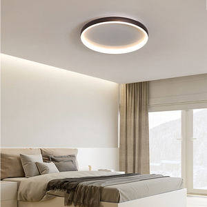 Image 2 - מודרני Led נברשת לסלון חדר שינה מחקר חדר עגול לבן/שחור/קפה צבע 110V 220V בית דקו נברשת מתקן
