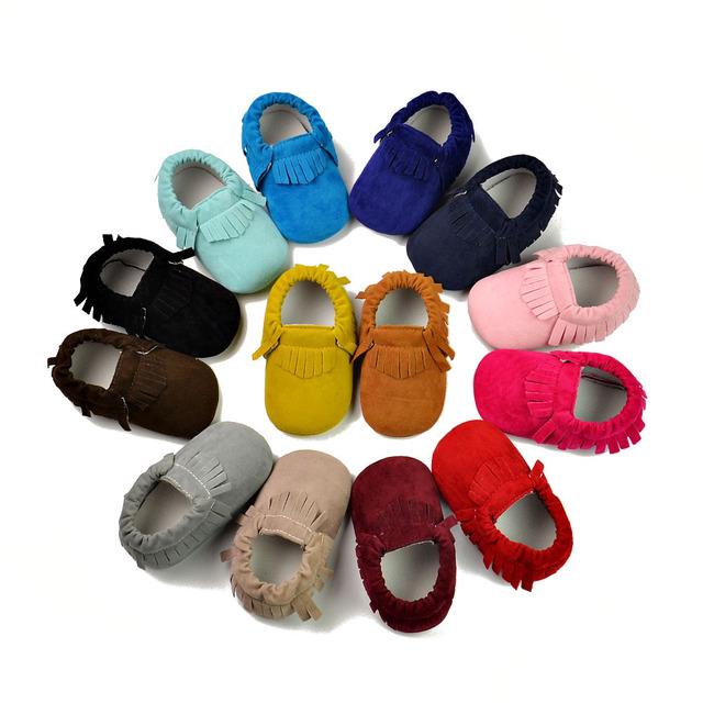 2016 hot sale crib shoes franja estilo qualidade de super confortável bebê da menina do menino primeiro sapato da moda frete grátis 9 cores disponível