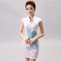 Hot Sell Women Silk Satin Vestidos Sleevless Cheongsam Female Qipao Dress Chinese Tradition Evening Dress Flower