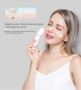 Image 2 - 5in1 kit women wash facial cleansing brush washable deep cleanser female skin electric facial massager for body face