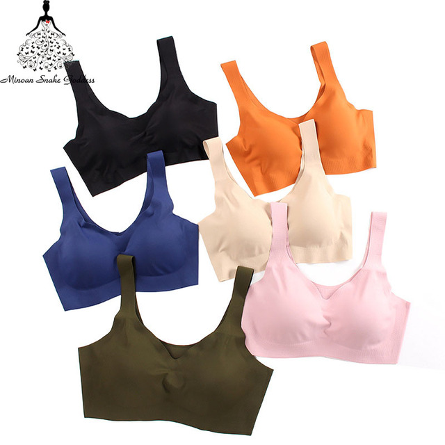Sexy Women Bras Push Up Gather Bralette Seamless Bra Wire Free Soutien Gorge Femme Comfort Underwear Solid Color Vest Brassiere 3