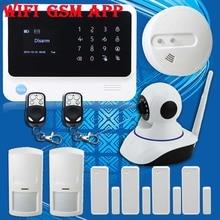 Бесплатная Доставка! G90B GSM GPRS WiFi Охранной Сигнализации Проводной Сирены + HD Ip-камера новый Датчик Дыма Охранной охранной Сирена
