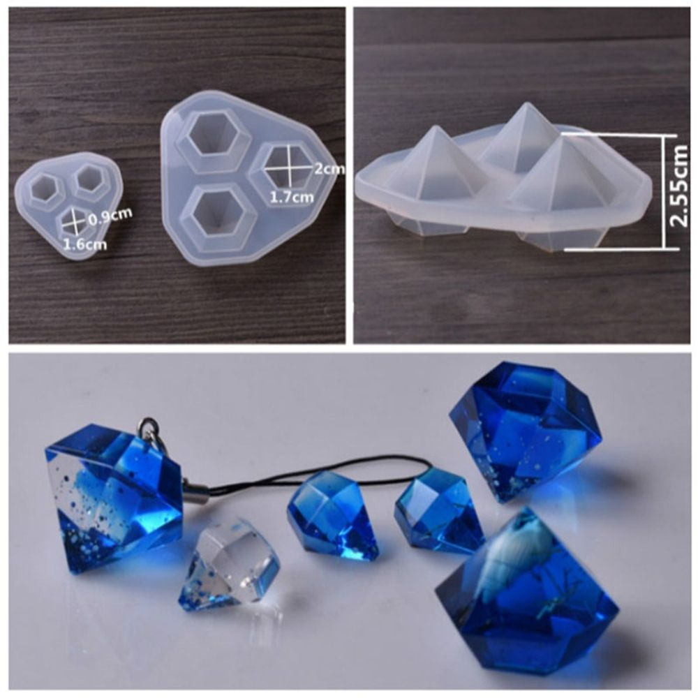 3 In 1Transparent Silicone Mould Dried Flower Resin Decorative Craft DIY Diamond Mold Cutting Shape Molds For Jewelry