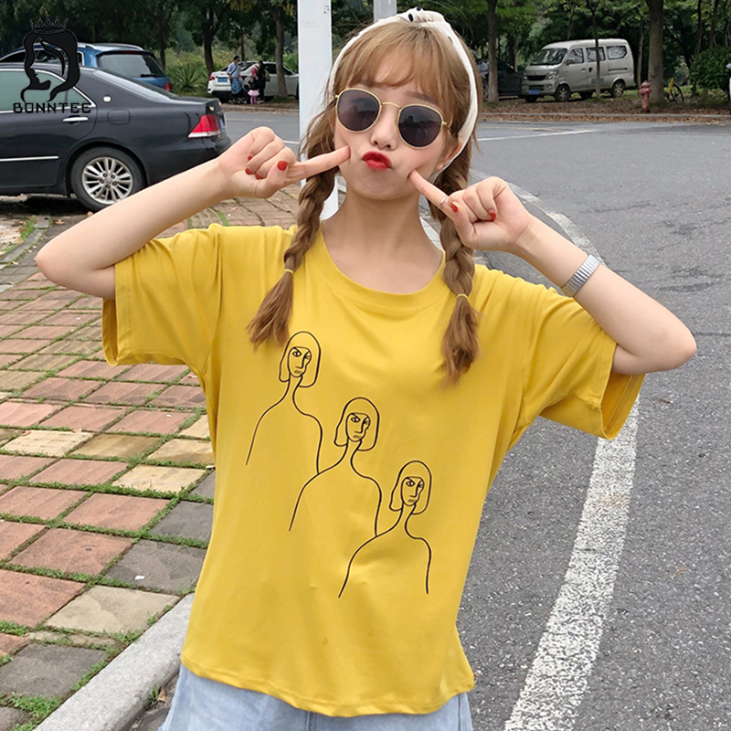 Detail Feedback Questions about Harajuku Loose Sweet T shirts Women Korean  Style Ulzzang Cartoon Printing Chic Short Sleeve Womens T shirt Summer  Breathable ... 119fa5dfa425