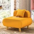 AW1801 Haushalt Wohnzimmer Einzigen Sofa Stuhl Moderne Einfache Massivholz Fuß Baumwolle Flachs Faul Sofa Schwamm Sofa Balkon schlafzimmer-in Wohnzimmersofas aus Möbel bei