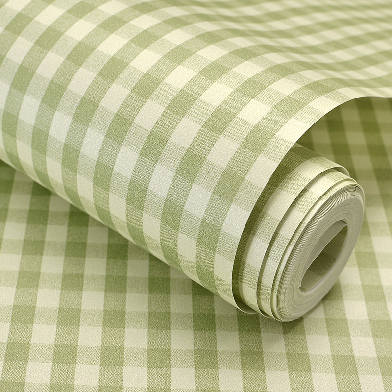Colomac 3D non woven American country scottish plaid style wallpaper roll living room sofa background decor