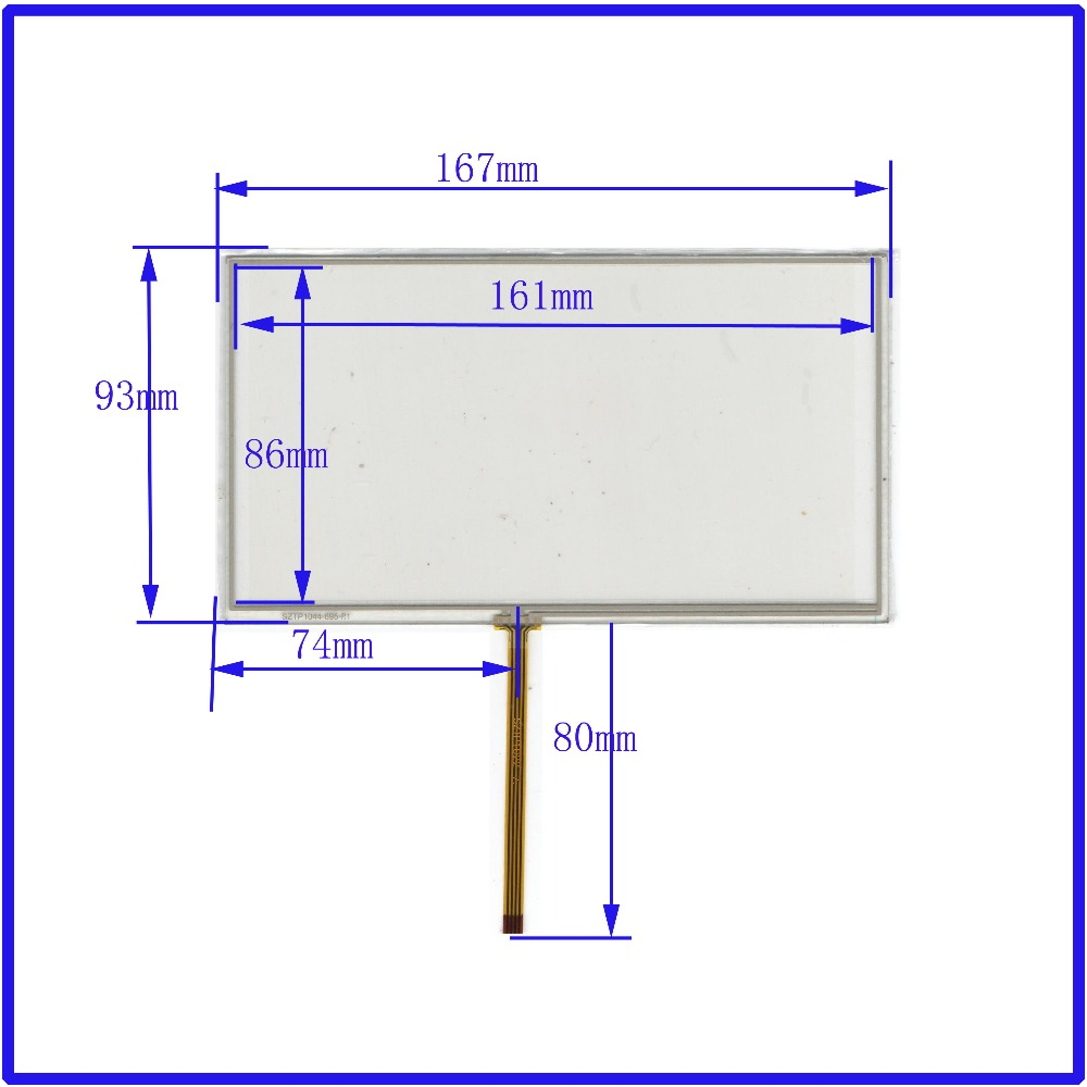 ZhiYuSun New  7 Inch TOUCH Screen Panels  167mm*93mm  For GPS  Or Commercial Use Post