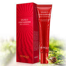 BIOAQUA Red Ginseng Snail Eye Cream Anti-Aging Anti Wrinkle Remover Dark Circle Whitening Moisturizing repair Eyes Care(China)