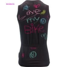 2018 Summer women cycling jersey Top bike sleeveless wear cycling clothing Ropa ciclismo customized MTB