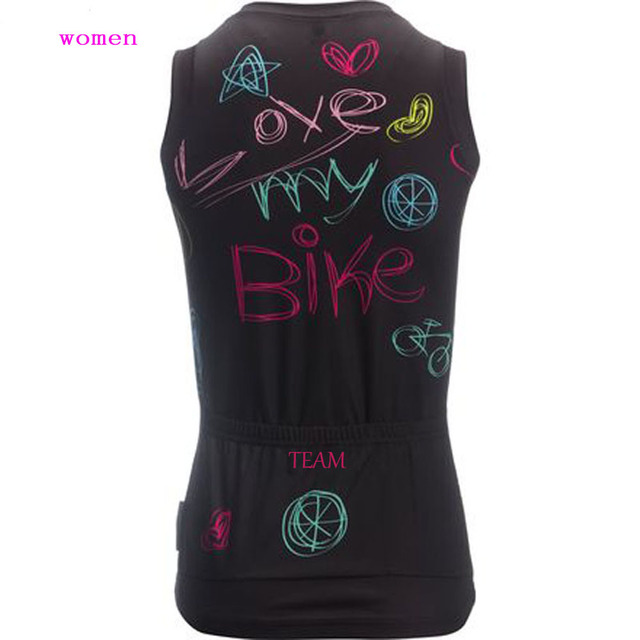 2018 Summer women cycling jersey Top bike sleeveless wear cycling clothing Ropa ciclismo customized MTB