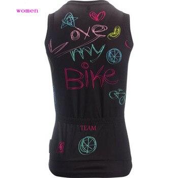 2018 mulheres Verão camisa de ciclismo Top sem mangas bicicleta desgaste roupas de ciclismo ropa ciclismo personalizado MTB