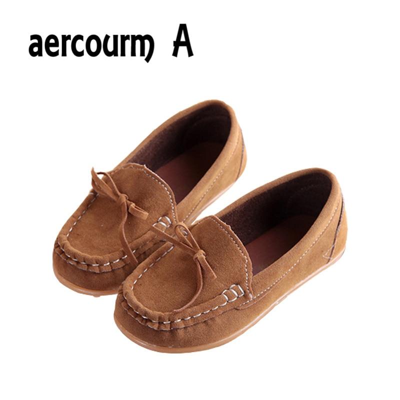 Aercourm A 2018 BARU anak-anak Sneakers gadis PU kulit sepatu bayi sepatu anak-anak balita sepatu Moccasins Sneakers Datar