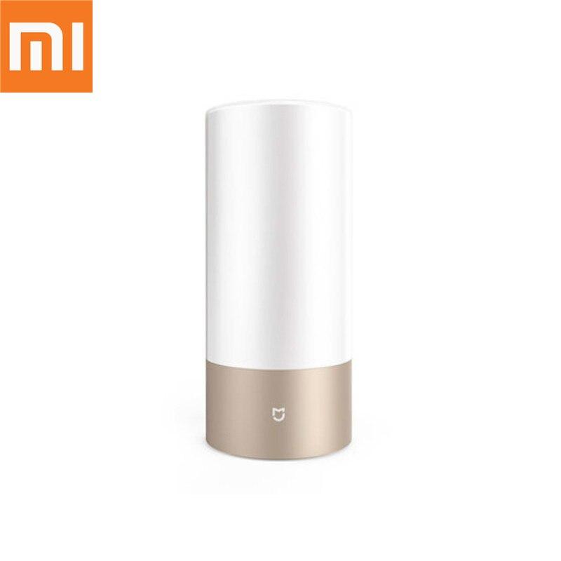 Lampe de chevet d'origine Xiao mi mi mi jia lampe de lit d'intérieur intelligente 16 mi llion RGB couleurs changeantes Bluetooth WiFi contrôle tactile
