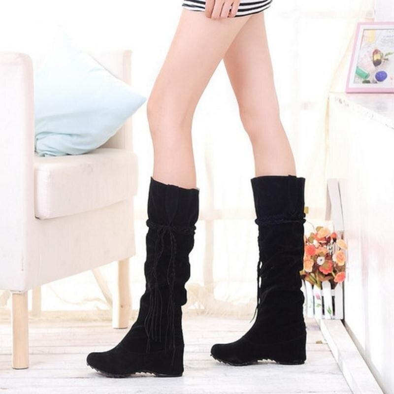 KemeKiss женская обувь на плоской подошве пикантные сапоги зимние теплые сапоги Качественная и модная обувь; теплая обувь; botas feminina P8396 размер 34-43