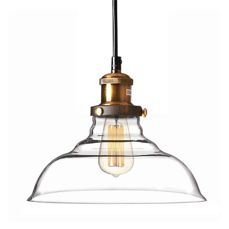 Best продвижение Винтаж промышленные 28 см потолок Стекло лампа Тенты подвесной светильник Cafe Кухня ресторан лампы