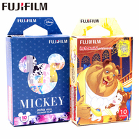 Fujifilm 20 Sheets Beauty And The Beast New Mickey Instant Film Photo Paper For Instax Mini