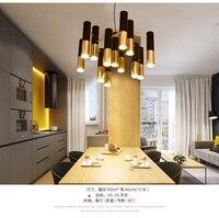 black and gold metal aluminum tube chandelier lamp Italy modern design suspension light for dinning restaurant