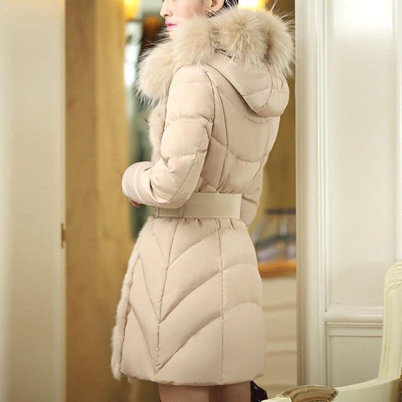 Longues Nouvelles black Col Femmes Automne De Coton 2018 White Coréenne D300 Manches Veste Capuchon Noir Mode Et Des Laine Chaud D'hiver À TXxA7x1