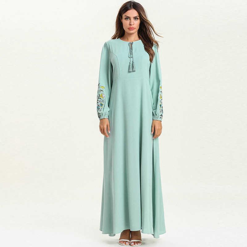 Vestidos Kaftan Дубай Абая Турция исламский, мусульманский платье хиджаб Абая для женщин платья Caftan Elbise Ramadan исламский халат одежда