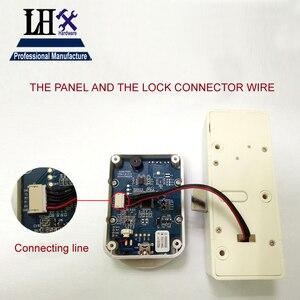 Image 4 - LHX Hardware Password Lock Digital Electronic Password Keypad Number Cabinet Code Locks Intelligent