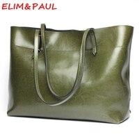 إيليم و بول حقائب النساء حقائب مصمم جودة عالية والجلود الفاخرة حقيبة رمادي أخضر برتقالي كبير حمل الحقائب للنساء