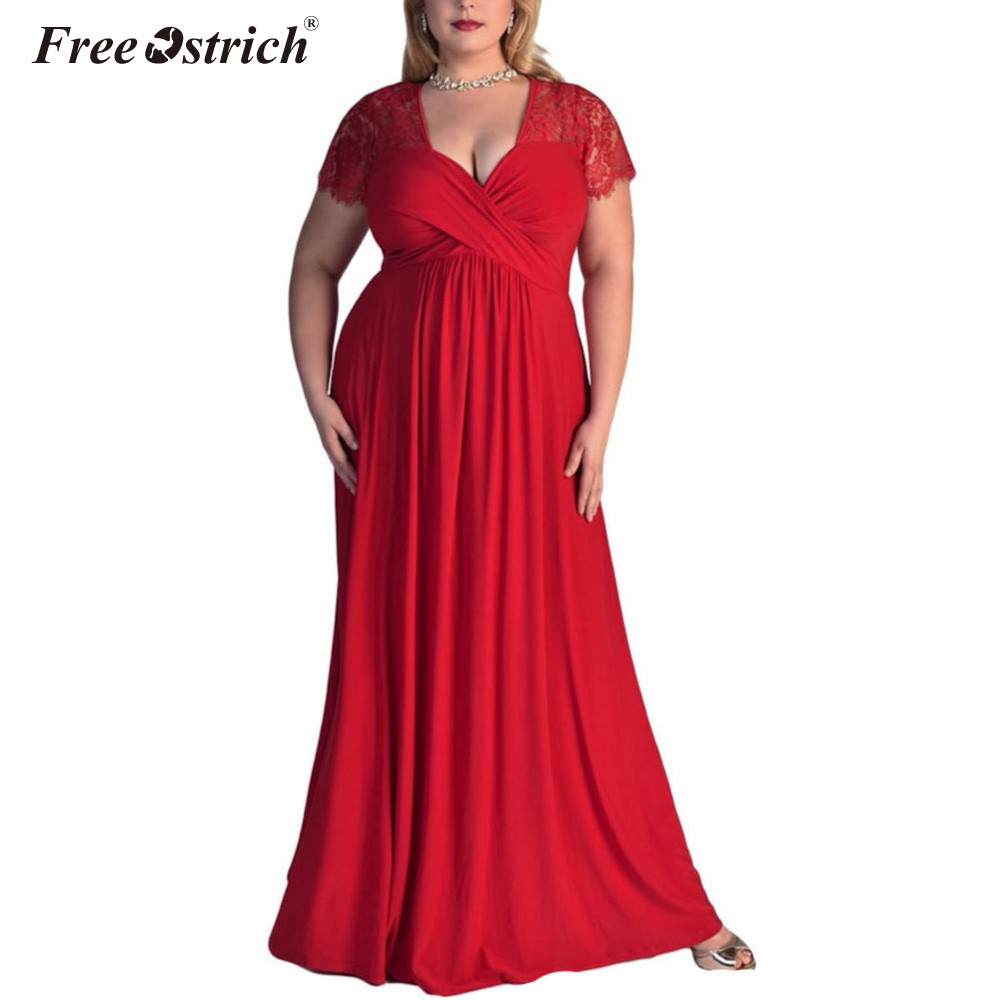 Free Ostrich vestidos verano Plus Size Short Sleeves Cocktail Gown 2020 Women Summer Dress Long Dresses Beach Sundress N30