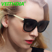 VEITHDIA TR90 Women's Polarized Sunglasses Mirror Lens Luxury Ladies Brand Designer Eyewear Sun Glasses For Women 8020