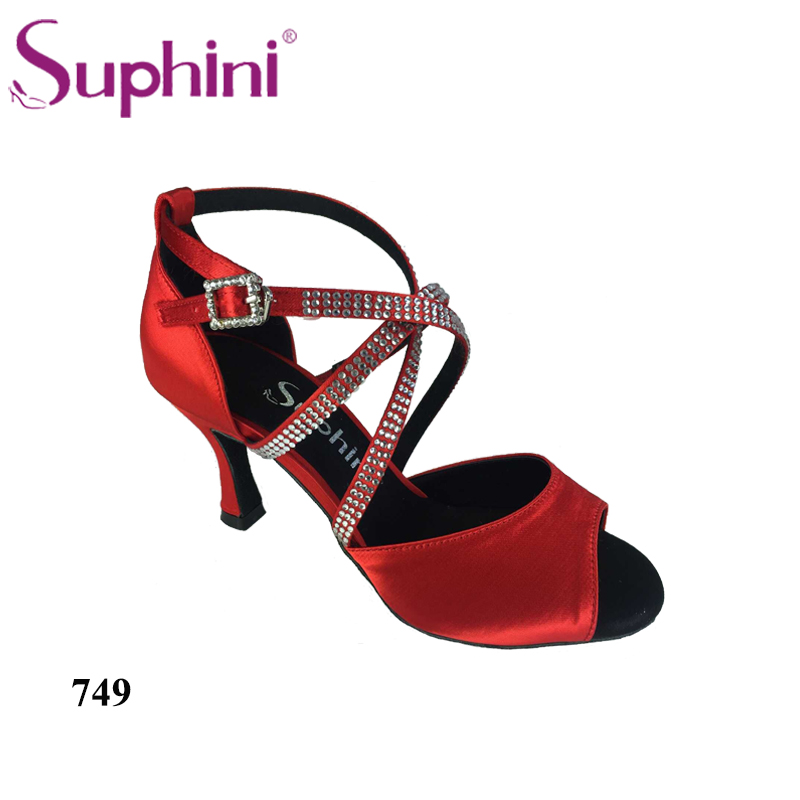 Free Shipping 2017 Suphini Latin Red Love Dance Shoes Woman Dance Shoes Crystal Comfortable Flexible Latin Dance Shoes free shipping 2017 suphini latin red love dance shoes woman dance shoes crystal comfortable flexible latin dance shoes