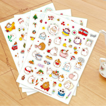 6 Pcs / Pack Beautiful Season 3 Molang Rabbit Decorative Sticker Diary Sticker DIY Scrapbooking School Stationery Stickers appella 1013 3001