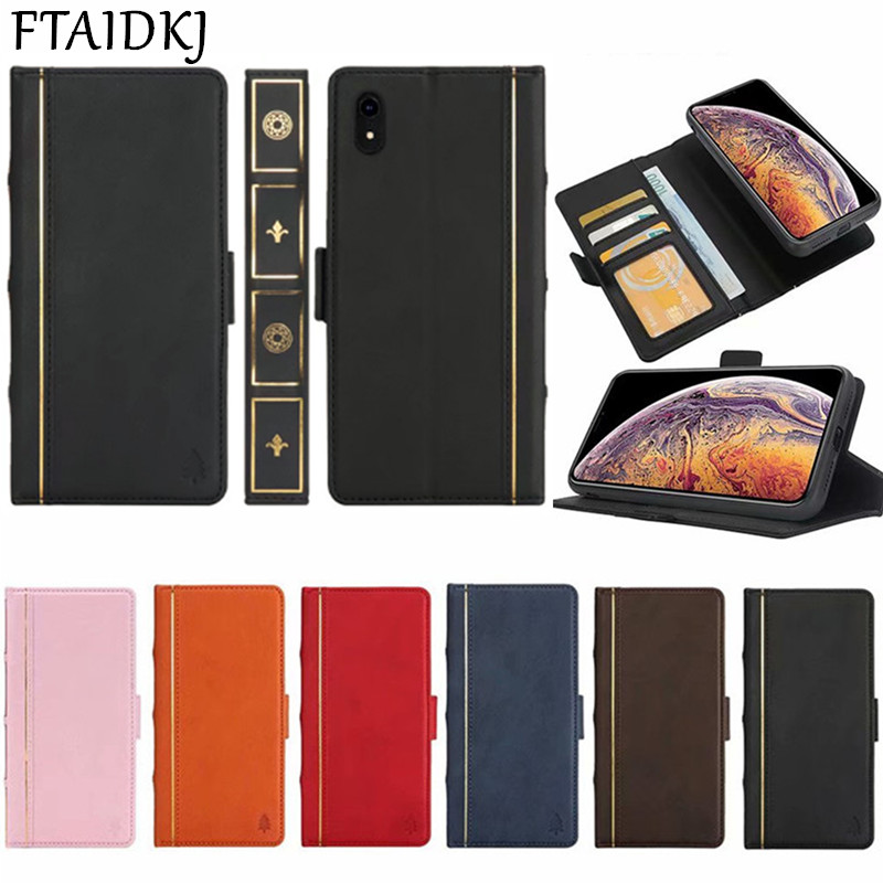 FTAIDKJ Luxury PU Leather Book Flip Kickstand Phone Case For iPhone XS Max XR 10 X 6 6S 7 8 Plus Wallet Stand Cover Fundas Coque