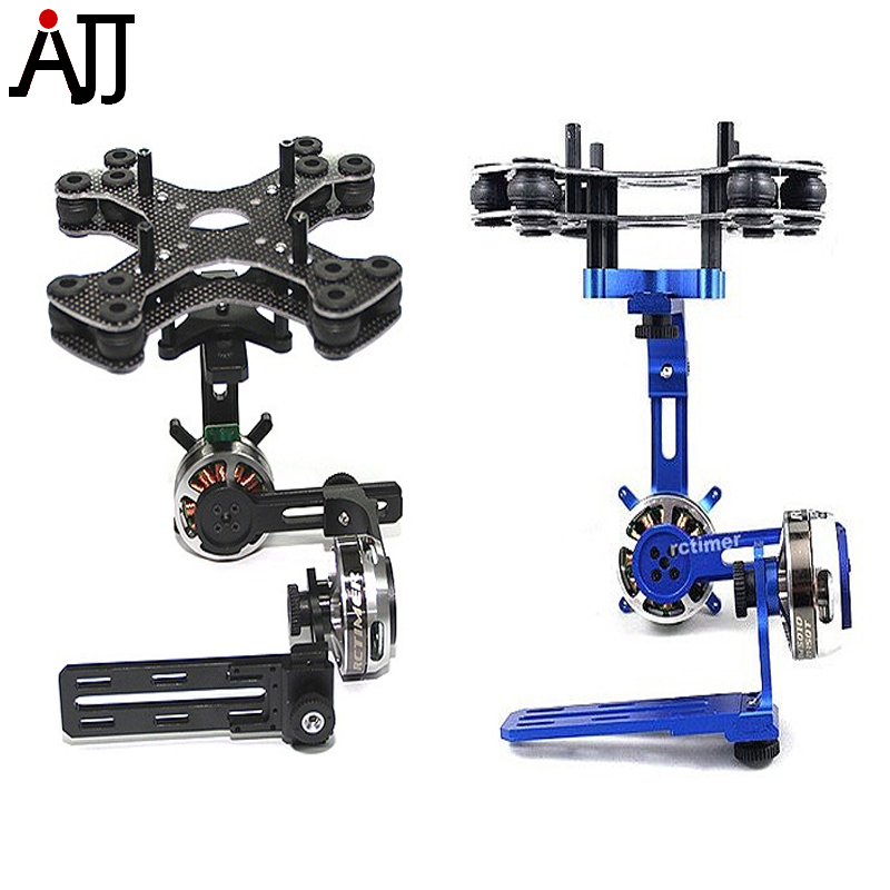 Rctimer ASP 2-Axis Nex-GH5 Series Brushless Gimbal Black Blue Color with BGM5010 Brushless Gimbal Motor 2015 hot sale quadcopter 3 axis gimbal brushless ptz dys w 4108 motor evvgc controller for nex ildc camera