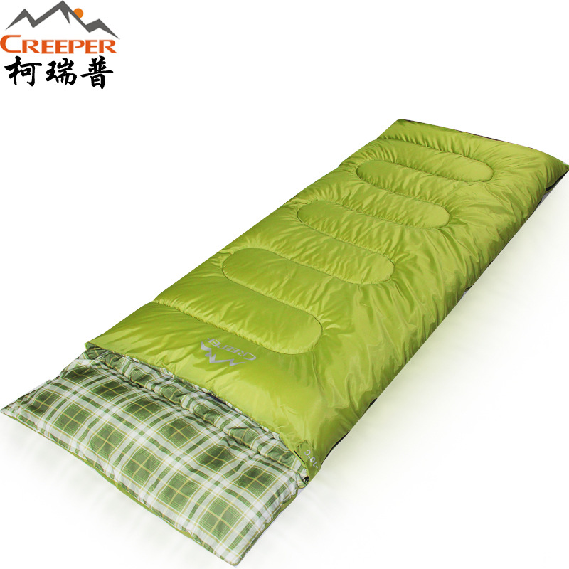 creeper brand outdoor sleeping bag Thermal Autumn Winter Envelope Hooded Travel Camping Water Resistant Sleeping Bag With Pillow aotu outdoor sleeping bag adult thermal autumn winter envelope hooded travel camping water resistant thick sleeping bag