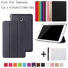 b7bfaeade61 Caso de la cubierta para samsung Galaxy Tab 8,0 SM-T380 T385 2017 folio  stand funda para samsung Galaxy Tab A2 S SM-T380 T385 + .