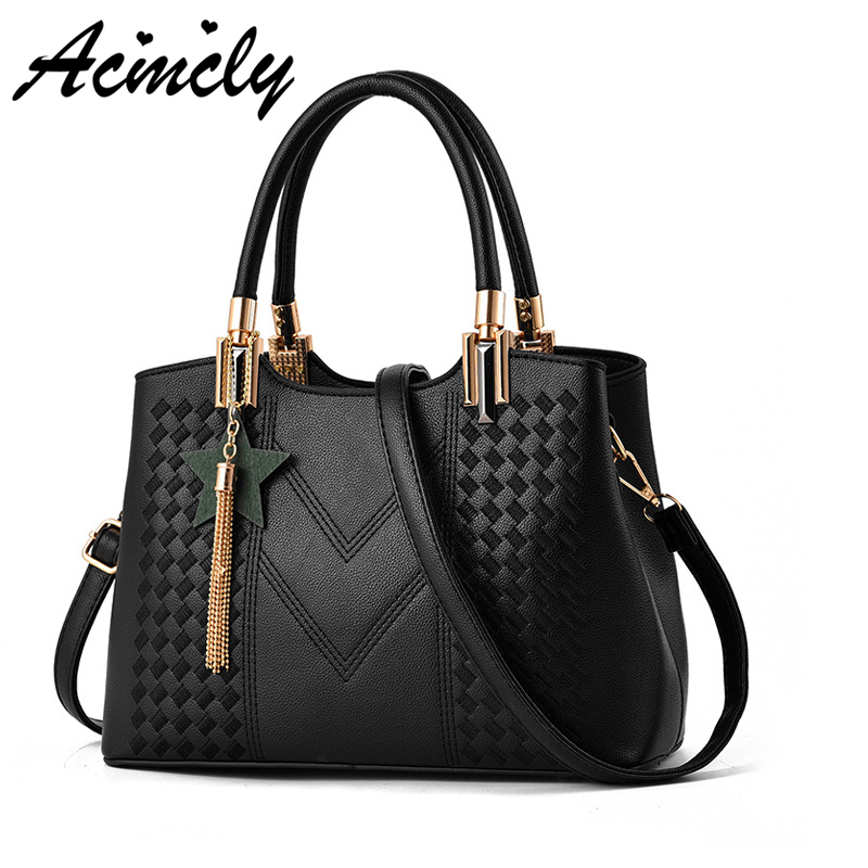 2018 Fashion Women Handbags PU Leather Good Quality Women Bag Female Leisure Large Capacity Solid Women Bags Tote Bolsas A2331/o