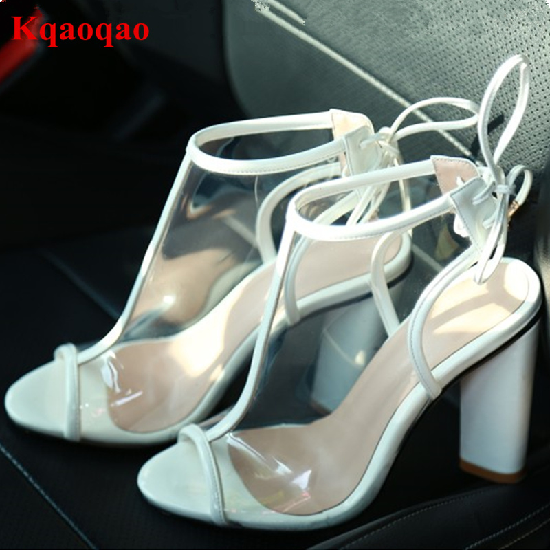 Peep Toe High Heel Women Pumps Slingback Transparent Stylish European Back Lace Up Luxury Brand Star Runway Stage Party Shoes peep toe high heel women pumps slingback