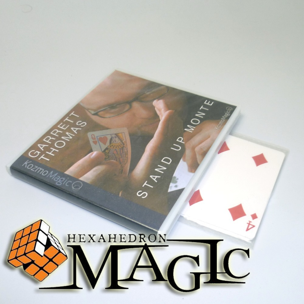 Stand Up Monte (with Gimmick) by Garrett Thomas and Kozmomagic /close-up card magic trick / wholesale marumi mc close up 1 55mm
