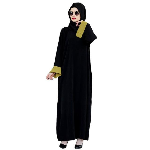 Casual Muslim Maxi Dress Chiffon Abaya Kimono Vintage Long Robes ... 35bdbfdf37ff