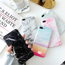 Luxury Marble Case on for Coque iPhone X Fashion Glossy Soft TPU Cover 6S 6 7 8 Plus XR XS Max Capa Women Men