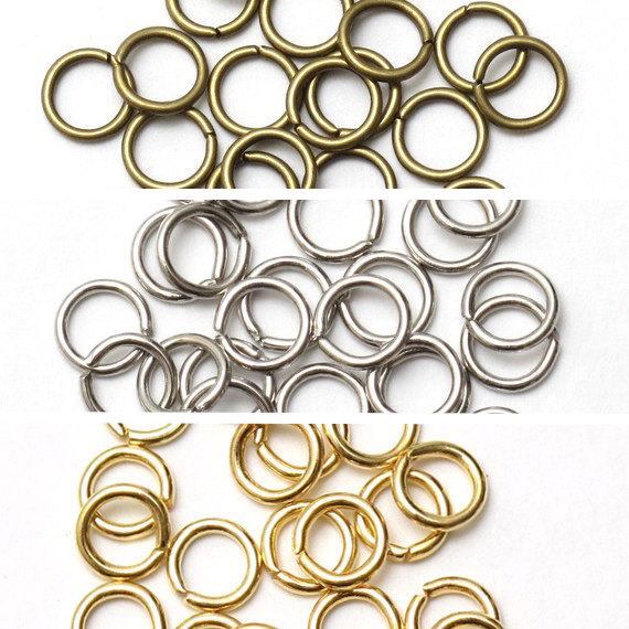 5000pcs Assorted Mixed Open Adjustable Jump Rings metal findings