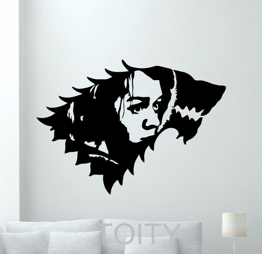Arya stark wall sticker game of thrones logo vinyl decal - Posters y vinilos ...