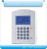 lithium battery blue LCD U disk download data RFID Time Attendance, time clock & access control system employee time clock