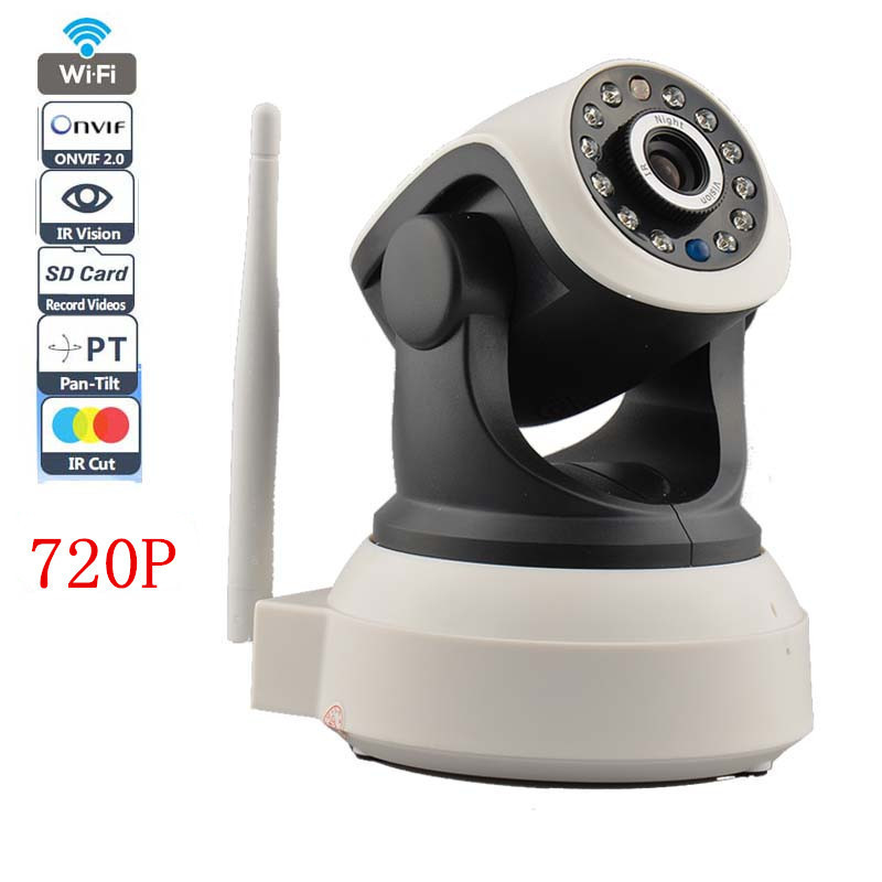 2 Way Audio Wireless IP Camera Robot With TF/Micro SD Memory Card Slot Free Iphone Android Wifi IP Camera 720P 1.0MP P2P