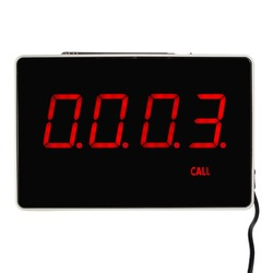 TIVDIO Four-Digit Display Receiver Host Voice Reporting Broadcast For Restaurant Calling System 433.92MHz F3303B