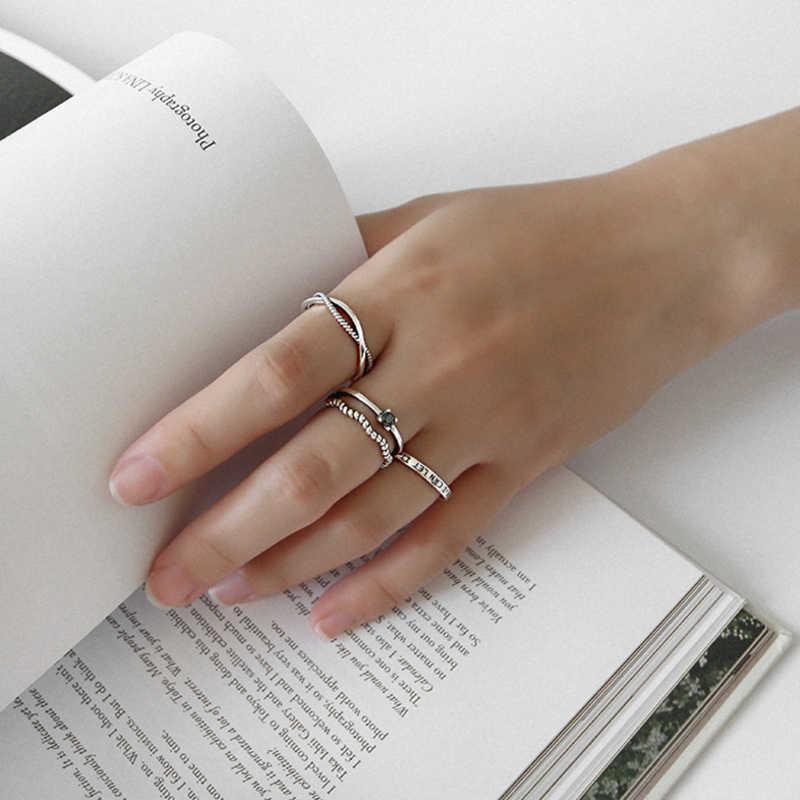 2019 ขายร้อน S925 เงินสเตอร์ลิงแหวนบุคลิกภาพผสมแฟชั่น Retro Charm สำหรับผู้ชายผู้หญิงแหวนเงินของขวัญ