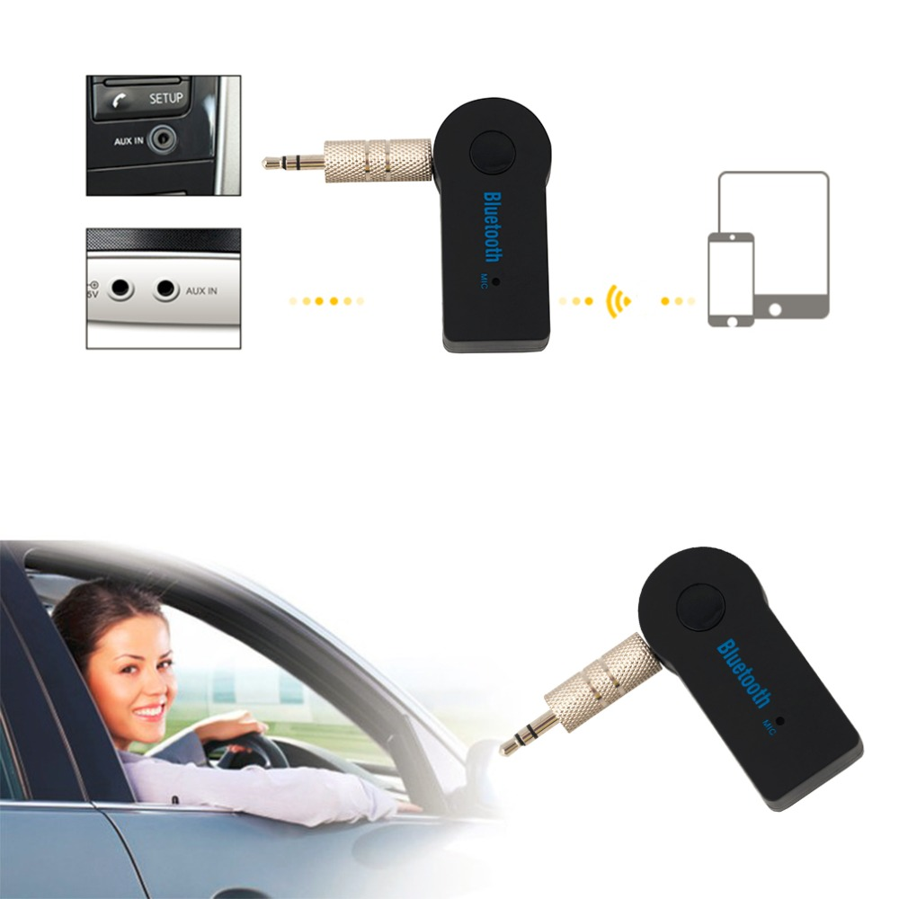 2016 Handfree Car Bluetooth Music Receiver Universal 3 5mm Streaming A2dp Wireless Auto Aux: 【ᗑ】Handfree Car Bluetooth Music ③ Receiver Receiver Universal 3.5mm Streaming A2DP Wireless ̿̿̿