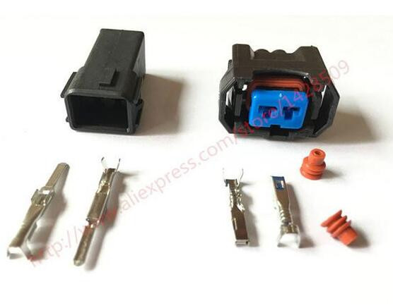 5 Sets Female and Male 2 Pin Auto Cable Horn Wire Connector For Excelle BYD BUICK Honda CITY Rear Door Lock Motor DJ7028-2-11//21