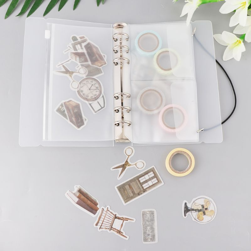 1 Set Transparent Loose Binder Leaf A6 Size Inner Page Cover Notebook Diary Planner School Office Supplies Collection