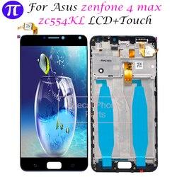 Para ASUS Zenfone 4 Max ZC554KL Zenfone 4 MAX LCD Screen Display Toque Digitador Assembléia Substituição 5.5